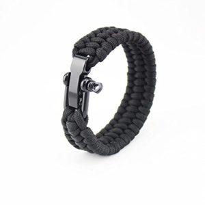 Bracelet Paracorde – Camping de sauvetage en plein air 7 Strand Bracelet Survie Parachute Cord Corde tressée Bracelet d'urgence réglable
