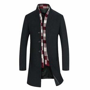 CAI&HONG-GUO GCC Manteau de Laine Automne et Hiver Hommes Coupe-Vent, A, M