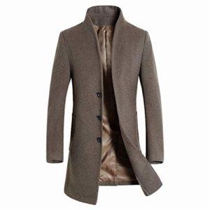 CAI&HONG-GUO GCC Manteau en Laine à col Montant, E, L