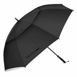 Fixm Parapluie de Golf 172cm, Parapluie de Golf Automatique, équipé d'Une Double canopée aérée étanche Extra-Large, antidérapant et Durable, résiste au Vent, à la Pluie et au Soleil