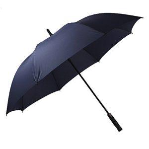 Grand Parapluie de Golf, Taille 61 Pouce Solide Anti Vent Anti Retournement Ouverture Automatique avec Poignée en EVA mousse(Bleu)-YS013