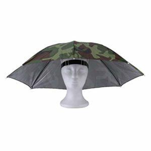 MachinYesell Portable Sports De Plein Air 69 cm Parapluie Chapeau Chapeau Pliant Femmes Hommes Parapluie Pêche Randonnée Golf Plage Chapeaux Mains Libres Parapluie