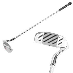MUXSAM 1pc Chipper Golf Clubs de Golf Déchiqueteur de Golf Accessoires de Golf(Homme et Femme) Coupe en Acier Double Face 35pouces