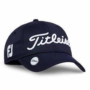 TITLEIST Chapeaux du Golf pour Femme (Tour Visor, Tour Performance Cap) (Women's Tour Performance Ball Marker, Navy/White)
