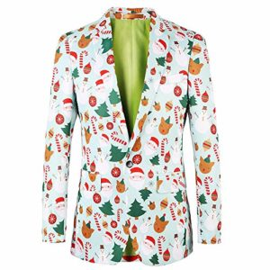 Blazer Hommes Automne Hiver De Noël Mince À Manches Longues Costume Veste Trench-Coat Top Blouse Hommes Veste Imperméable