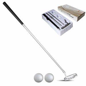 Nicololfle Putter De Golf,Alliage De Zinc Portable Golf Club avec 2 Balles De Golf Put Putters Détachables pour Droitiers Golfeurs Golf Putting Trainer pour Intérieur Extérieur