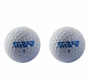 Poualss 2 Pièces Balles de Golf, Balles de Golf Balles de Golf, Balles de Golf pour la Pratique Sportive du Golf