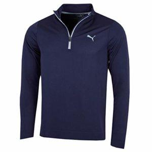 Puma Mens Golf Essential Evoknit 1/4 Zip Pullover – Peacoat – L