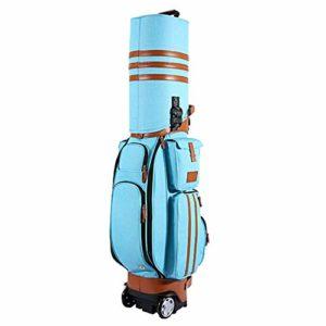Sac de voyage de golf de haute qualité PU imperméable à l'eau multifonctionnel de sac de golf sac d'aviation avec des roues, verrouillage de mot de passe pour les hommes sacs de voyage de voyage de we