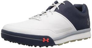 Under Armour Mens UA Tempo Hybrid 2 Chaussures de Golf – Blanc – UK 6