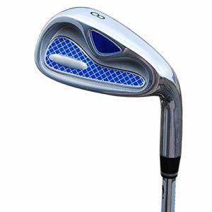 Club Golf Carbon Hommes en Plein Air Sport Golf Putter Golf Club Débutant Set Fers Set 4/5/6/8/9 / p/s Practice Fer Long Fer Fer Court (Couleur : Steel Rod, Taille : 8)