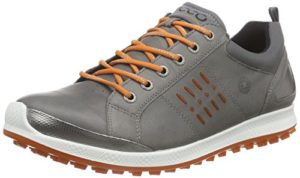 ECCO Men's Golf BIOM Hybrid 2, Chaussures Homme, Gris (59556WARM Grey/Orange), 46 EU