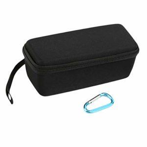 Fantasyworld Portable Taille Durable EVA Semi-Dur Portable Carry All Couverture de Rangement de Voyage pour Mini Haut-Parleur sans Fil – Noir