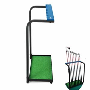HAOHAOWU Support De Présentoir De Club De Golf, Support De Rangement De Club De Golf 9 Clubs Durabilité De Stockage De Clubs De Golf en Métal pour Intérieur Facile D'utilisation Extérieure