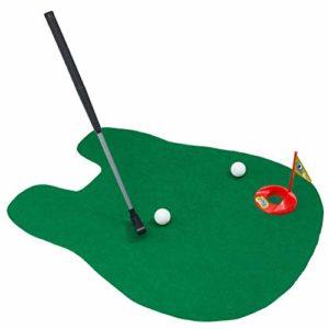 Lispeed Potty Putter: Jeu de Golf pour Toilette, Jeu de Golf pour Toilette, 6 pièces, Club de Golf, Environ 65 cm