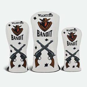Premier Licensing PRG Originals Lot de 3 Couvre-têtes de Golf Bandit pour Pilote, allée et Bois de recul.