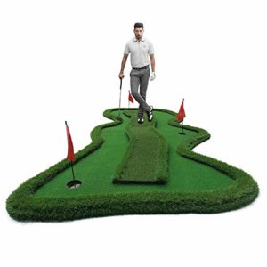 WZDSNDQDY Golf Green Putting Practice, hôtel Club Golf réaliste Indoor Putting Practice, Golf remodelage Hommes et Femmes 150 * 350CM