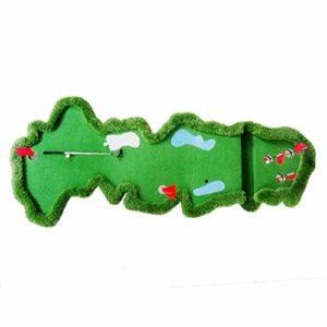 WZDSNDQDY Pratique de Putt intérieur, Animation de Pratique de Bureau de Jardin Vert, Golf d'Entreprise, 150 * 300CM