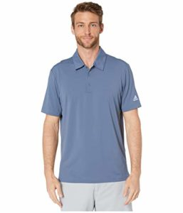 adidas Golf Men's Ultimate 2.0 Solid Polo, Tech Ink/ Glow Blue, Large