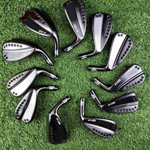 AGAOERFClubs de Golf 1pice 0311xf Jeu de fers Noirs Gen2 3-9wg Dernière série Kbs Tgi 60 Graphite Shaft