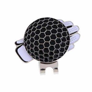 Balle De Golf Standard Magnétique Clip Mark a Gants Magnétique Chapeau pour Balle De Golf Marqueurs Métal Formaté Clip – Noir