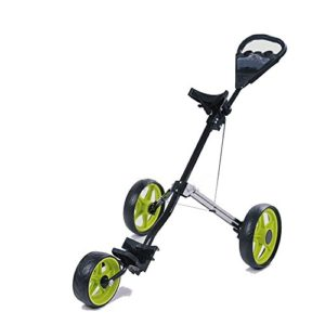 BESTSOON-AJ Chariot de Golf Chariot Pliable de Chariot de Sac de Golf de 3 Roues de Haute qualité Pliable et Chariot de Golf avec Le Frein Rapide pour Un Transport Pratique