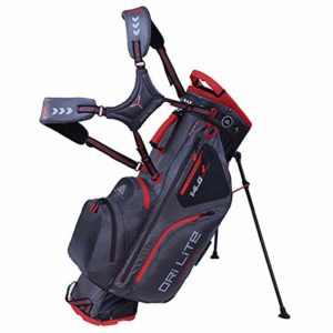 Big Max Dri Lite Hybrid Stand Golf Bag – Charcoal/Rouge