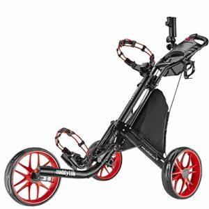 Caddytek facile pliage chariot de golf 3 roues, RED