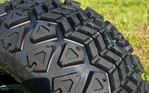 FidgetGear Lot de 4 Roues pour Chariot de Golf 30,5 cm M/B Lizard et pneus Tout-Terrain 58,4 cm