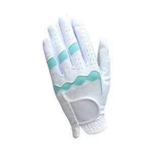 Gants de Sport d'extérieur Doux et Confortables en Plastique pour Femme Gants de Golf Respirants antidérapants (Bleu/Rose/Jaune) DT-98 (Bleu)