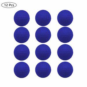 Jeantet Lot de 12 balles de Golf en Mousse Souple Haute densité pour entraînement intérieur et extérieur 4 cm, Bleu, 12 PCS