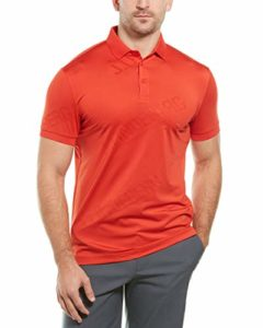 J.Lindeberg Coolmax Polo pour Homme – Rouge – Taille L