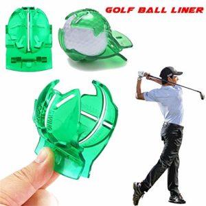 Junlian Accessoires de Scribe de Golf Fournitures Transparent Balle de Golf Ligne Verte Clip Doublure Marqueur Stylo Modèle Alignment Marks Tool Putting