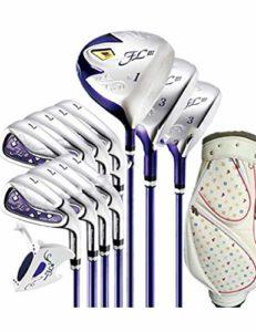 LJPHLL Femmes Clubs De Golf Clubs De Golf Pilote + Bois De Parcours + Fers + Putter + Sac Manche De Golf Graphite,Clubs De 12 Pièces