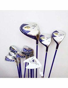 LJPHLL Femmes Clubs De Golf Golf Ensemble Complet Clubs Pilote + Bois De Parcours + Fers + Putter Manche De Golf Graphite Livraison Gratuite,L Flex