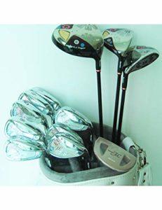 LJPHLL Lady Compelete Ensemble De Clubs FL Clubs De Golf Driver + Bois De Parcours + Fer À Repasser + Manche De Golf Putter Graphite,Une