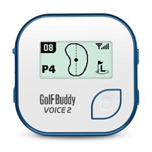 New Golf Buddy 'voix 2' Clip ceinture Parcours de golf Système GPS sans frais jamais Bleu