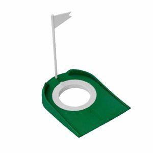 Prime Golf Practice Putting Cup, Golf Mat avec Trou Et Drapeau pour Office Intérieur Extérieur Garage Jardin – Vert