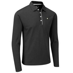 Stuburt Golf 2017 Polo Manches Longues à Manches Longues Pour Golf Urbain Black 3XL