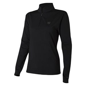 Wilson Golf Femme Haut à Longues Manches Performance, THERMAL TECH, Polyester/Spandex, Noir (Deep Black), Taille: XL, WGA700313