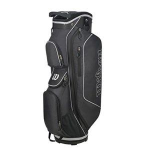 Wilson Golf WGB5306BL Sac Chariot Homme, Noir/Argent, Taille Unique
