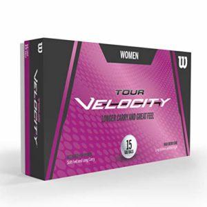 WILSON Tour Velocity Women 15-Ball WH Balles Femme Golf, White