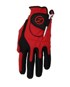 2014 Zero Friction Compression-Fit Performance Mens Golf Gloves Left Hand (For the Right Handed Golfer) Red by Zero Friction