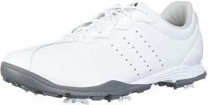 adidas Women's W Adipure DC Golf Shoe, FTWR White Silver met, 10 Medium US