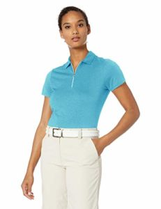 Callaway Women's Short Sleeve 1/4-Zip Heather Polo