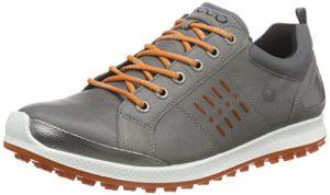 ECCO Men's Golf BIOM Hybrid 2, Chaussures Homme, Gris (59556WARM Grey/Orange), Taille 40