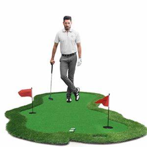 Golf Putting Green Golf Tapis d'entraînement intérieur extérieur Golf Putting Mat avec pont Golf Practice Equitment Training Aids pour l'intérieur extérieur Accueil Office,Shortgrassheight:8~10mm