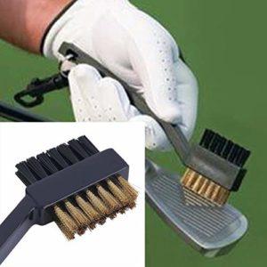 MachinYesell Outil de Nettoyage utile pour Les Clubs de Golf et Les Crampons Noirs