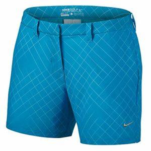 Nike Women's Flex Print Woven Short 856791 (Blue Fury, 4 x 4.5)