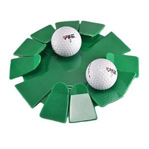PGM Plastique Golf Putting Cup, Toutes Les Directions de Golf Putting Cup Practise à Usage Domestique ou de Bureau Poratable-Green, Lot de 1pièce